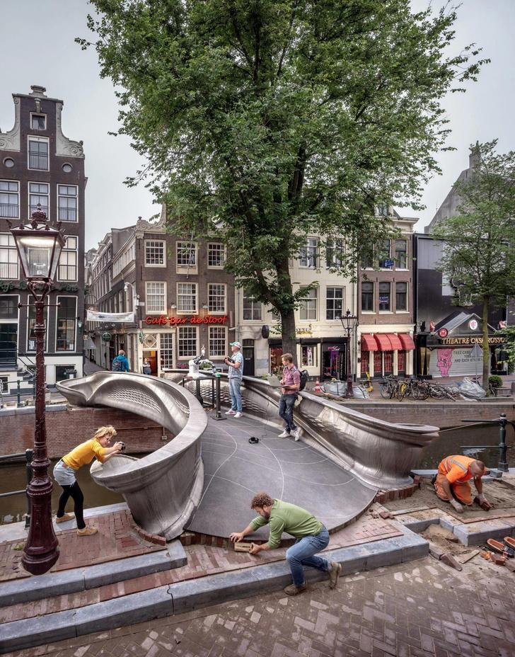 Фото №3 - В Амстердаме открылся мост, напечатанный на 3D принтере