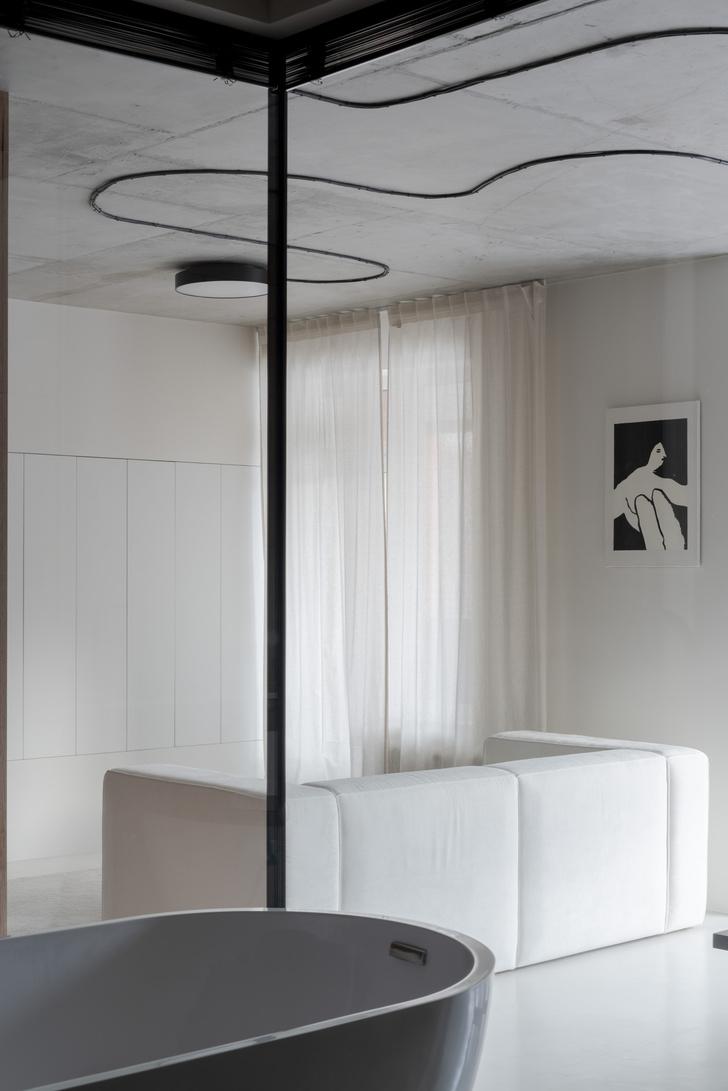 Фото №6 - Белая студия со спальней в алькове