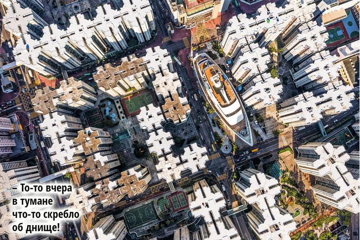 Фото №1 - Фото дня: что делает лайнер среди городской застройки