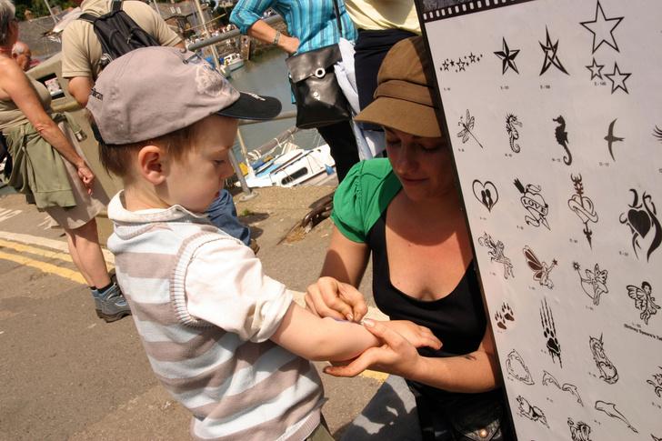 Переводные татуировки для детей