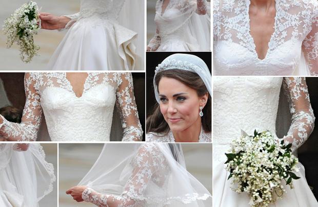 Фото №2 - Принцессы на день: Кардашьян, Хилтон и другие невесты в платьях а-ля Миддлтон