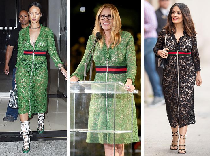 Фото №3 - Битва платьев: как выглядят звезды с разными фигурами в одинаковых нарядах