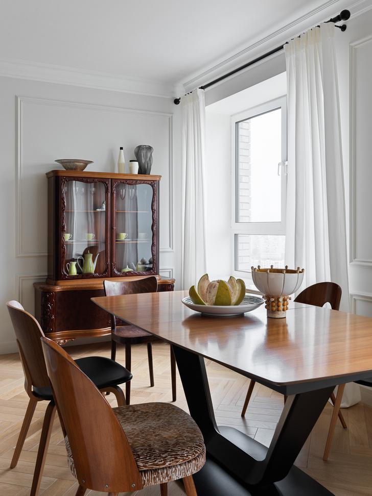 Фото №4 - Современная квартира с винтажной мебелью