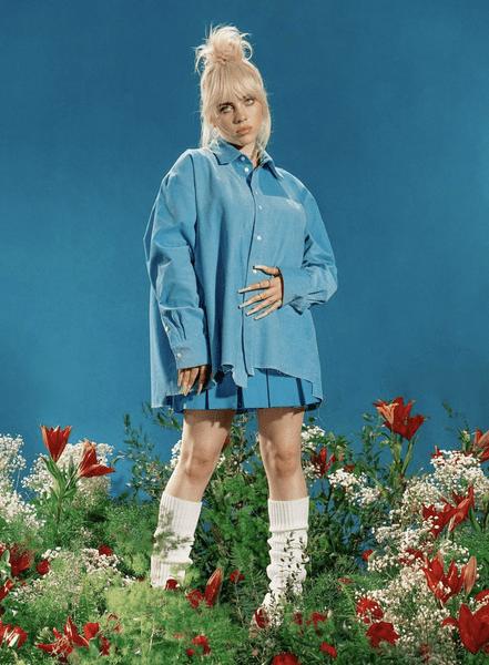Фото №2 - Как Билли Айлиш: этой осенью носим голубые рубашки и теннисные юбки