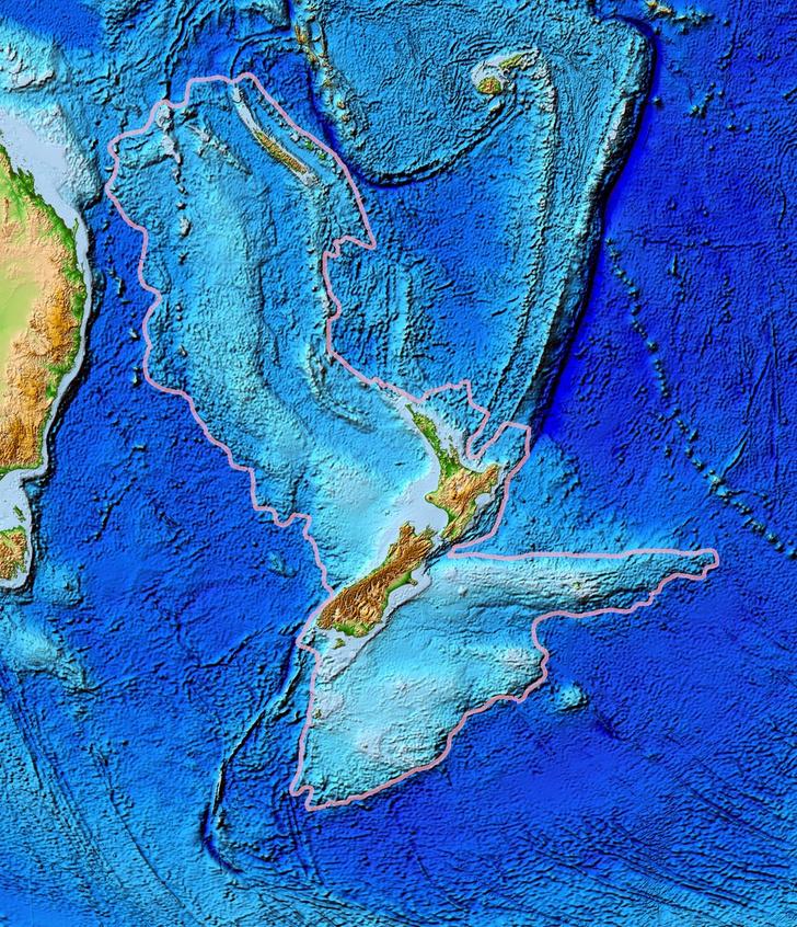 Фото №1 - Под Новой Зеландией нашли восьмой континент
