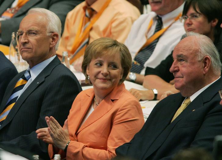 Ангела Меркель и Гельмут Коль