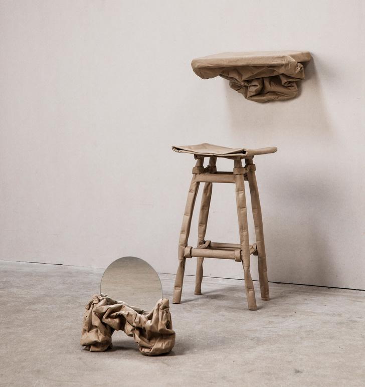 Фото №1 - Malleable State: коллекция мебели из бумаги