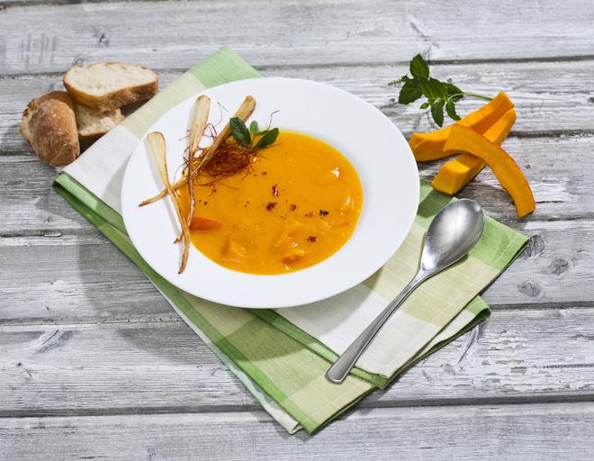 тыквенный суп пюре с беконом