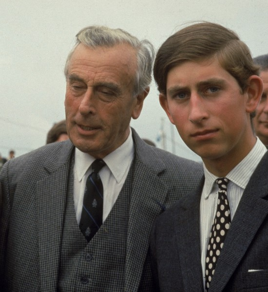 Лорд Луи Маунтбеттен и принц Чарльз
