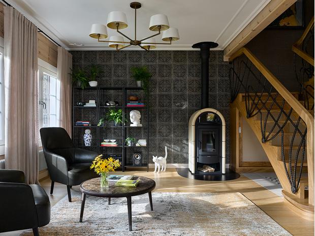 Фото №6 - Современный интерьер в деревянном доме в Подмосковье