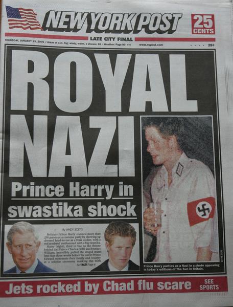 Фото №4 - Розовый маникюр, «голые» вечеринки и нацистские нашивки: вспоминаем шальную молодость принца Гарри