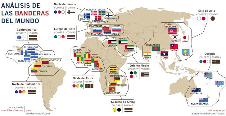 Фото №2 - Карта: самые похожие флаги в странах мира