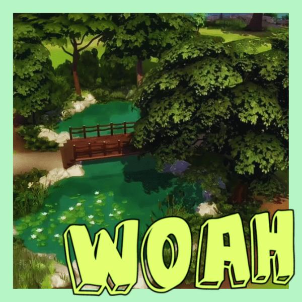 Фото №1 - Видео: как в The Sims 4 быстро построить красивый мост— без модов и CC 😎