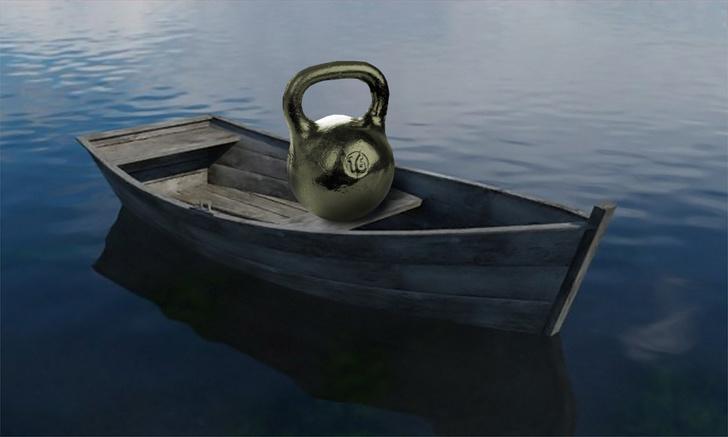 Фото №1 - Логическая головоломка недели: лодка с гирей