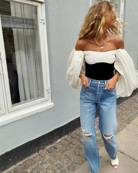 Фото №5 - С чем носить рваные джинсы— тренд весны 2021