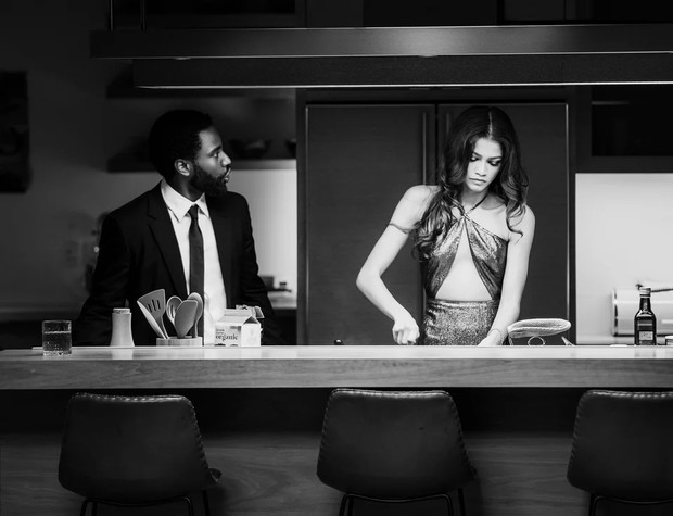 Фото №2 - Однажды в Голливуде: черно-белый стиль в драме «Малкольм и Мари»