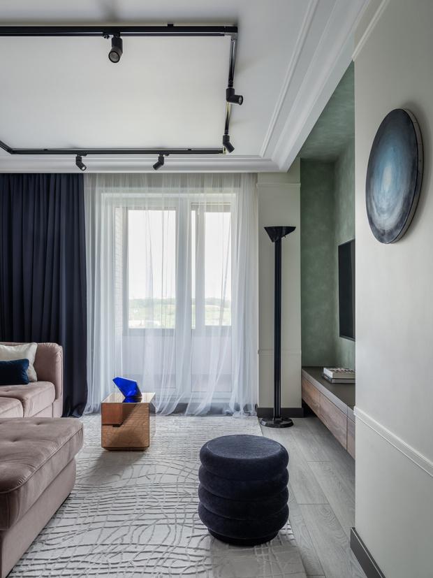 Фото №6 - Квартира в зеленых тонах для жизни за городом