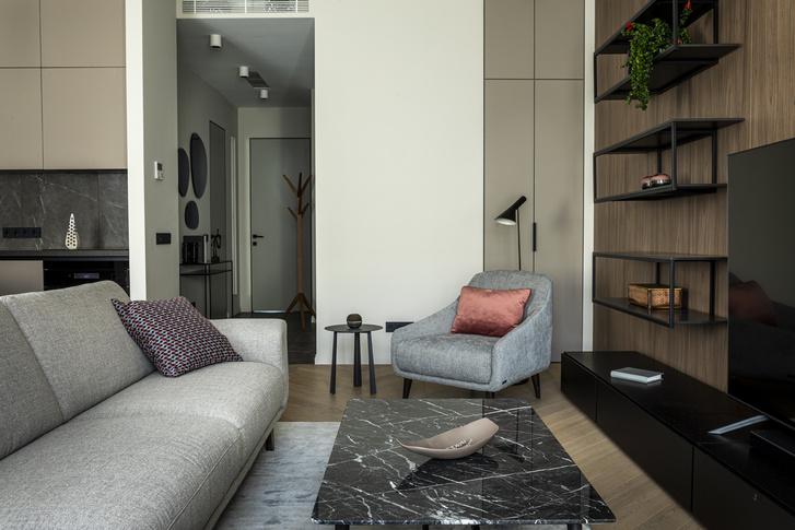 Фото №9 - Европейский интерьер московской квартиры 90 м² для иностранца