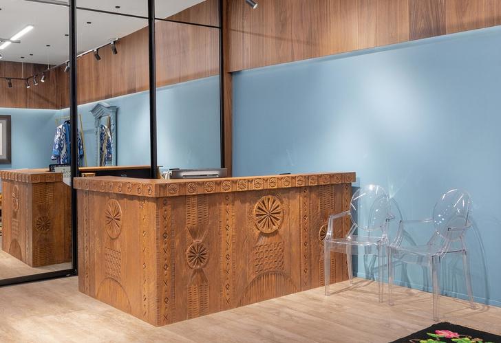 Фото №5 - Швейное ателье «МОМО»: интерьер в неорусском стиле от бюро Nativ Studio