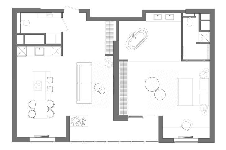 Фото №12 - Квартира с эффектной ванной в Краснодаре 89 м²