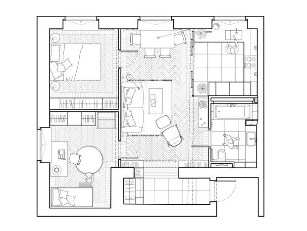 Фото №18 - Color Blocking: яркая квартира 63 м² в сталинке