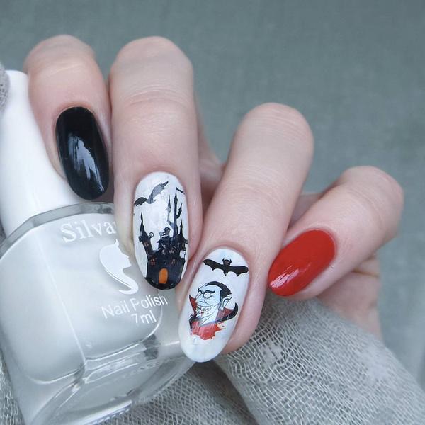 Фото №8 - Тыквы, летучие мыши и привидения: 10 классных вариантов маникюра на Хэллоуин