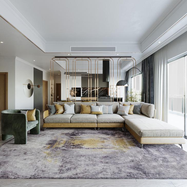 Фото №2 - Коллекция ковров Strati по дизайну Майка Шилова для Sahrai