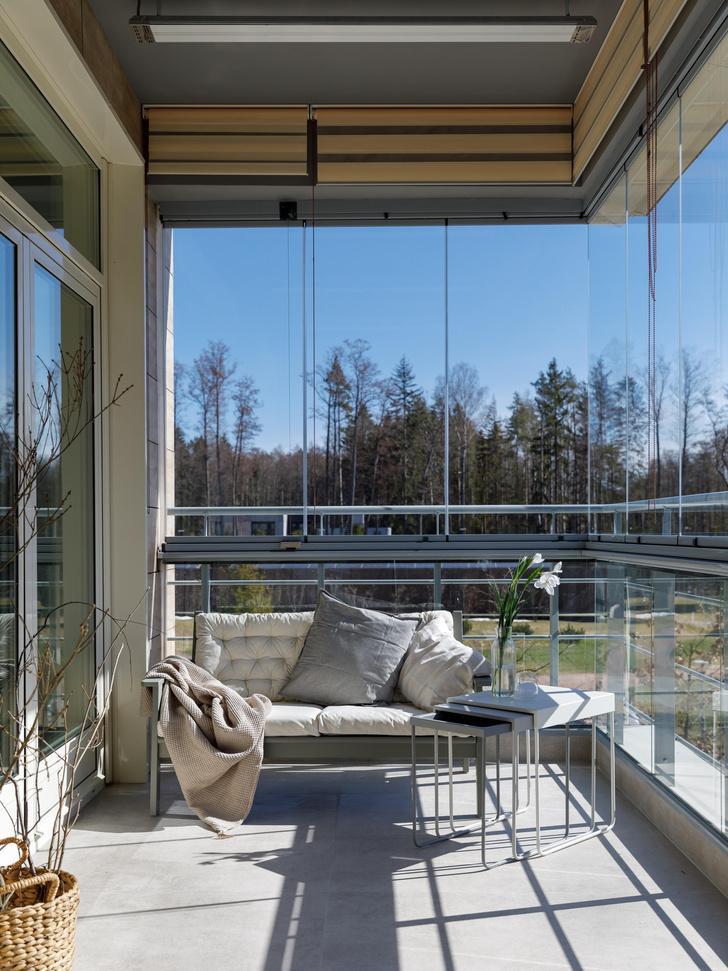 Фото №2 - Апартаменты 56 м² с камином и террасой