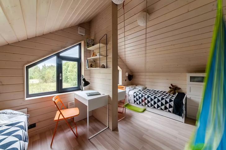 Фото №11 - Небольшой дом с панорамными окнами под Волоколамском