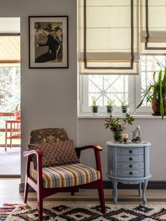 Фото №8 - Дачный дом с печью и винтажной мебелью в Подмосковье