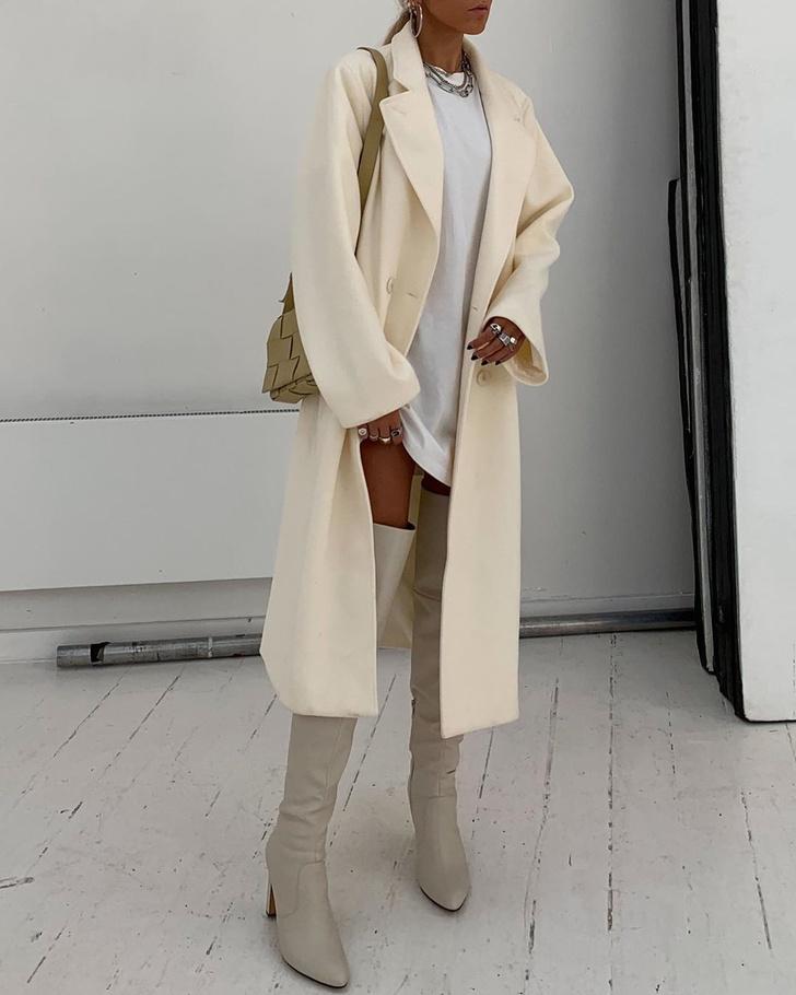 Фото №2 - С чем носить ботфорты этой осенью: безупречный образ стилиста Софии Коэльо