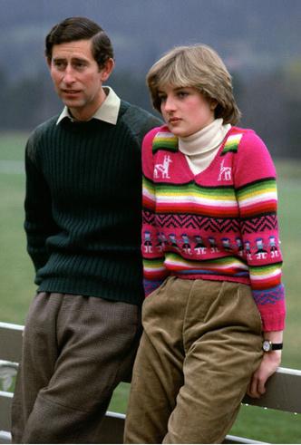 Фото №2 - От принта с «паршивой овцой» до классики: любимые свитеры принцессы Дианы
