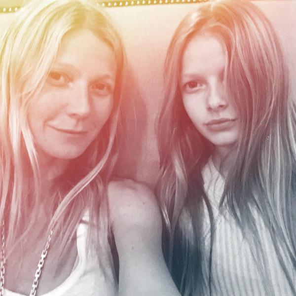 Гвинет Пэлтроу с дочкой фото