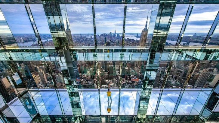 Фото №1 - Смотровая площадка в Нью-Йорке с прозрачным полом