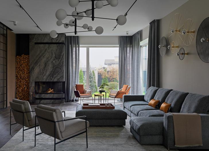 Фото №4 - Дом в Подмосковье 250 м² с камином и большими окнами
