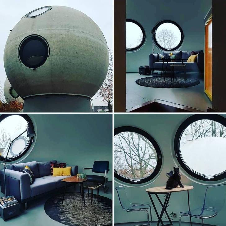 Фото №1 - Самые необычные дома мира: шары Bolwoningen в Нидерландах