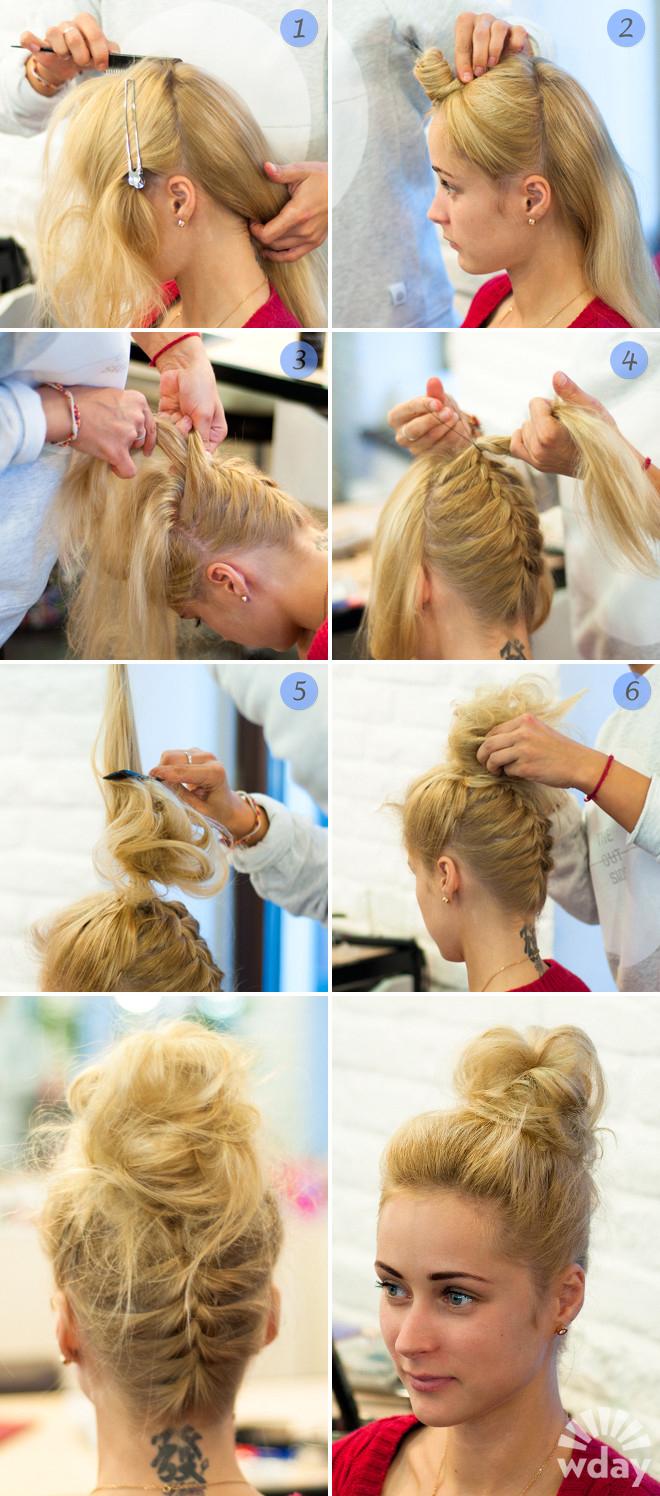 Причёски для девушек на средние волосы на каждый день своими руками