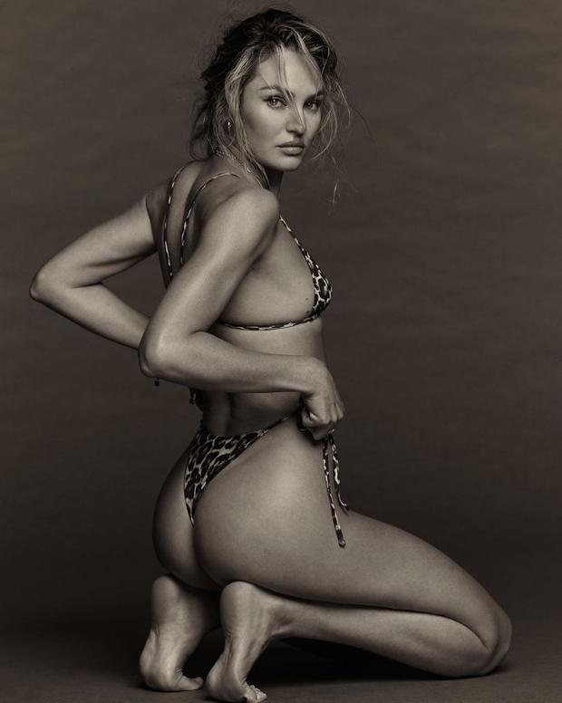 Фото №1 - Леопардовое бикини + джинсы: новые соблазнительные фото Кэндис Свейнпол