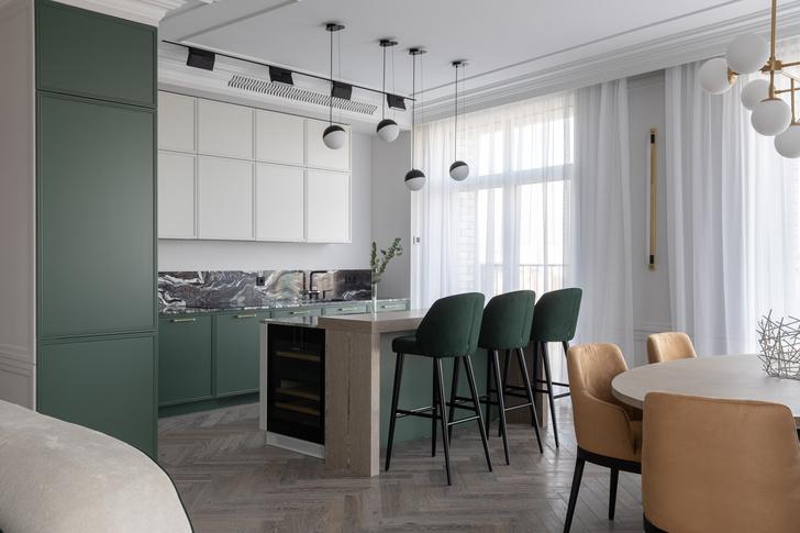 Фото №4 - Малахитовая шкатулка: квартира 148 м² в Москве