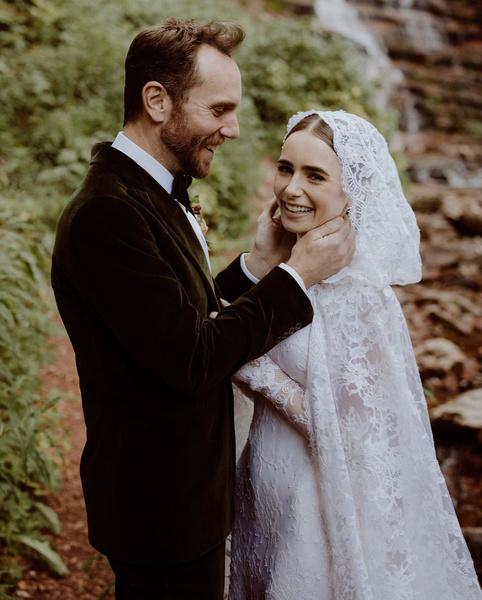 Лили Коллинз вышла замуж