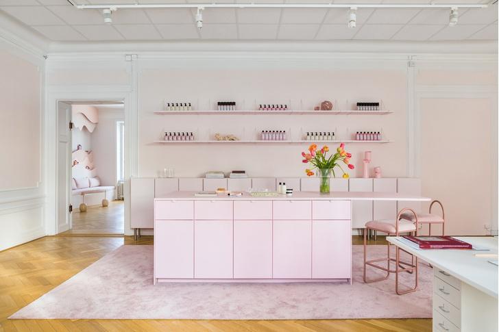 Фото №1 - Салон красоты в пастельных тонах в Стокгольме