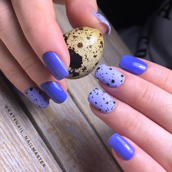 Фото №10 - Маникюр «перепелиное яйцо»: 10 модных идей