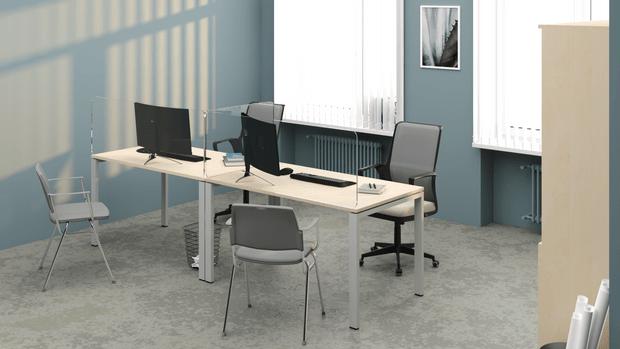 Фото №2 - Мебель для офиса: плавные формы и металл