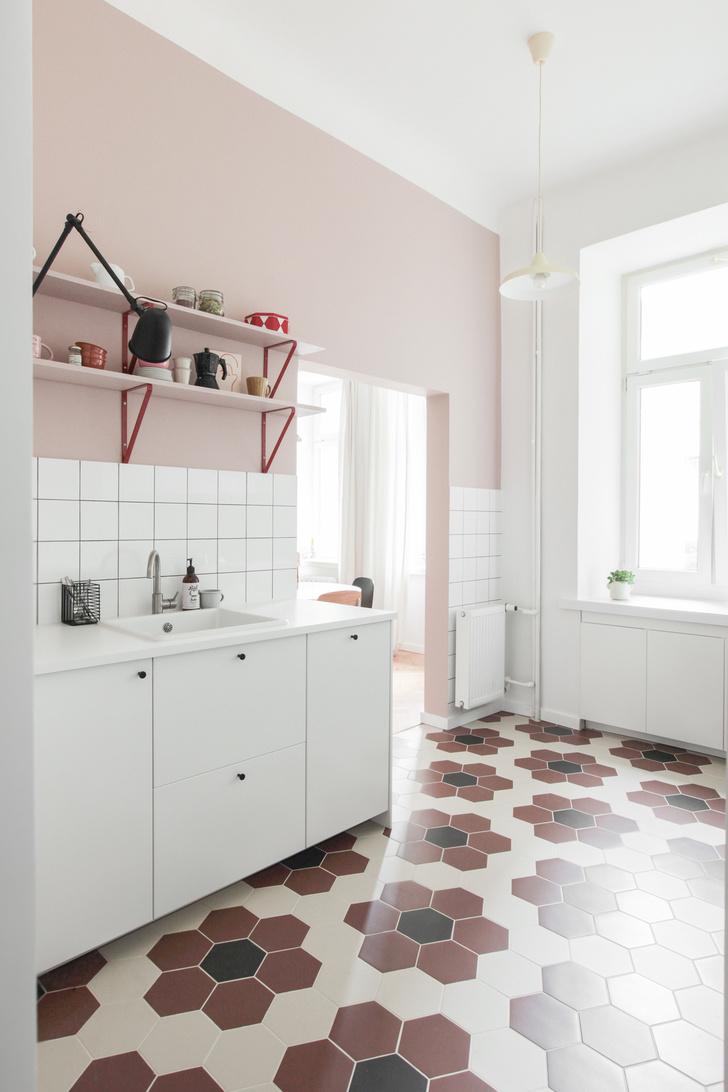 Фото №4 - Маленькая квартира в розовых тонах в Варшаве