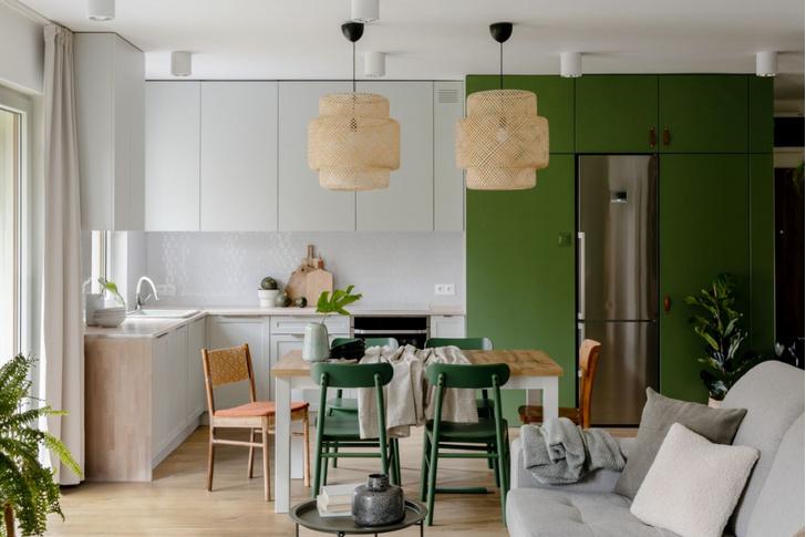 Фото №1 - Зеленая квартира 98 м² в Варшаве