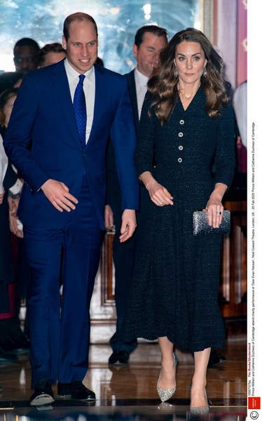 Кейт Миддлтон и принц Уильям посетили мюзикл в Лондоне