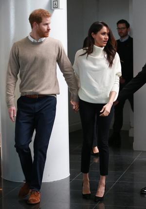 Фото №3 - Их модные Высочества: лучшие парные образы Меган и Гарри