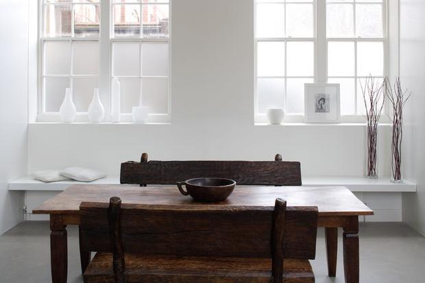 Фото №5 - Модная деталь: банкетки и скамейки в столовой