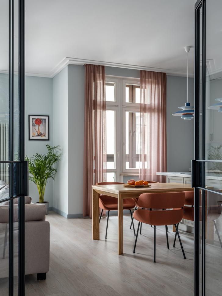 Фото №5 - Квартира 100 м² в оттенках зелени, моря, песка и заката