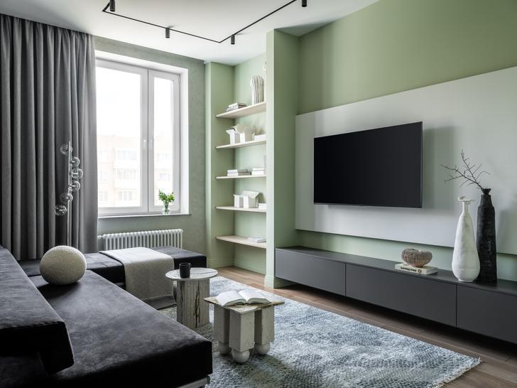 Фото №1 - Московская квартира 70 м² в мятных оттенках